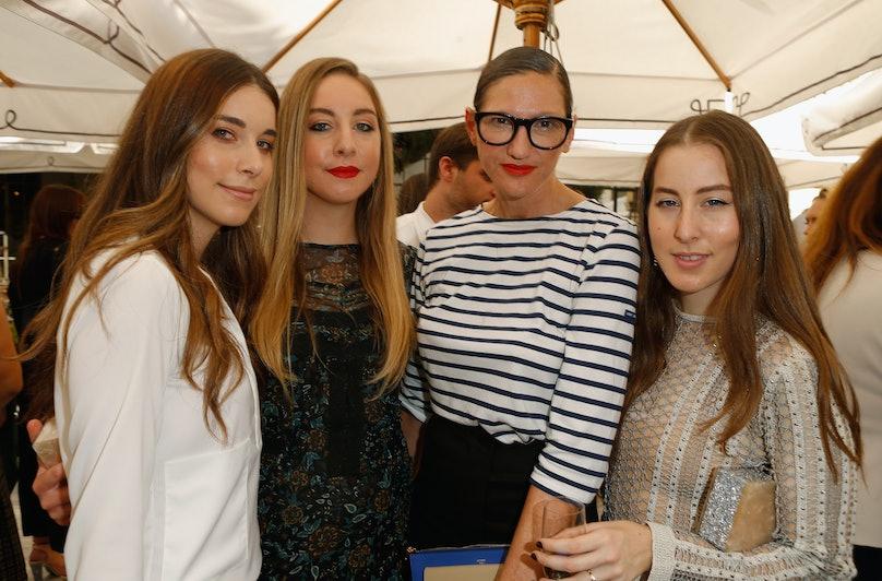 Jenna Lyons and the HAIM sisters
