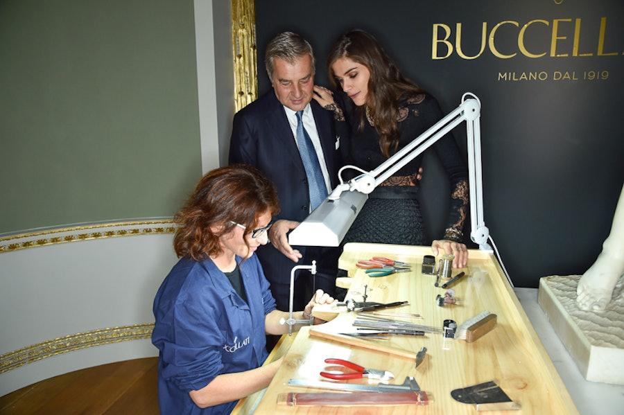 Andrea Buccellati and Elisa Sednaoui
