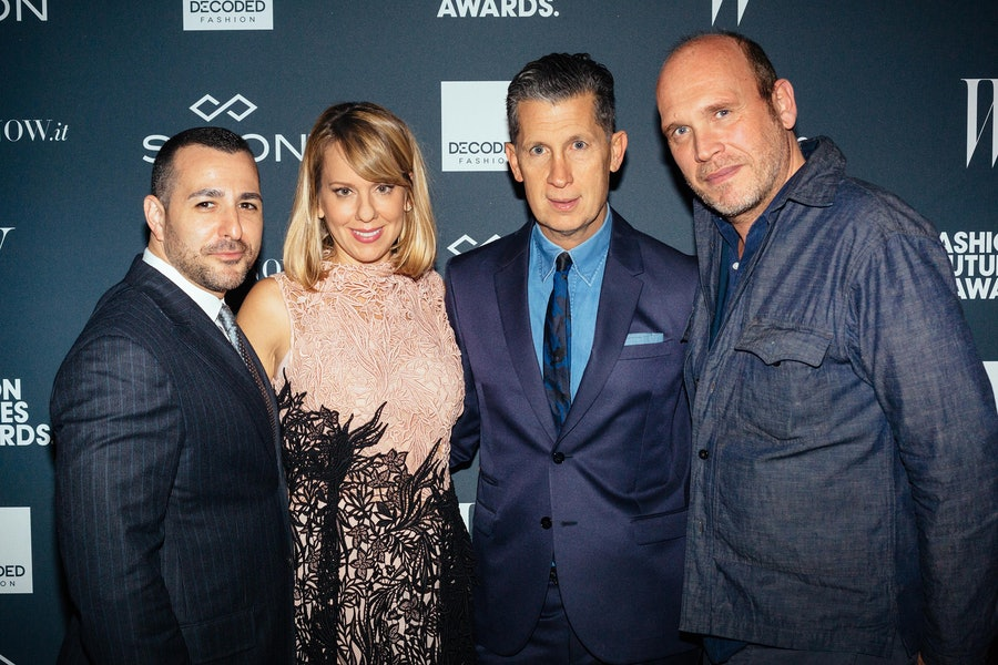 Fred Santarpia, Lucy Kriz, Stefano Tonchi, and Dirk Standen