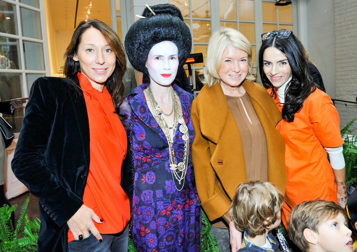 Elisabeth Holder, Gucci Westman, Martha Stewart, and Florence Mars