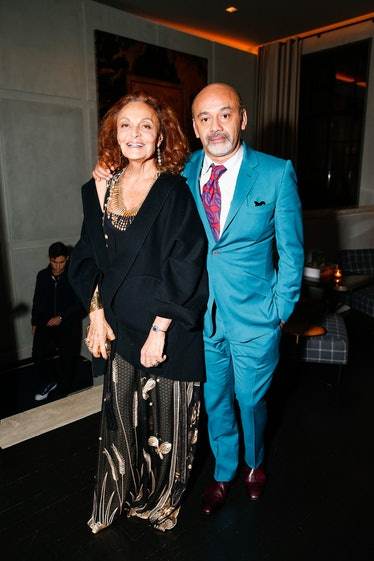 Diane von Furstenberg and Christian Louboutin