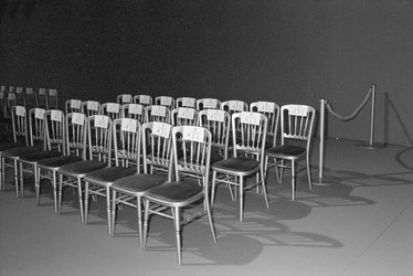 Chairs at Givenchy fashion show