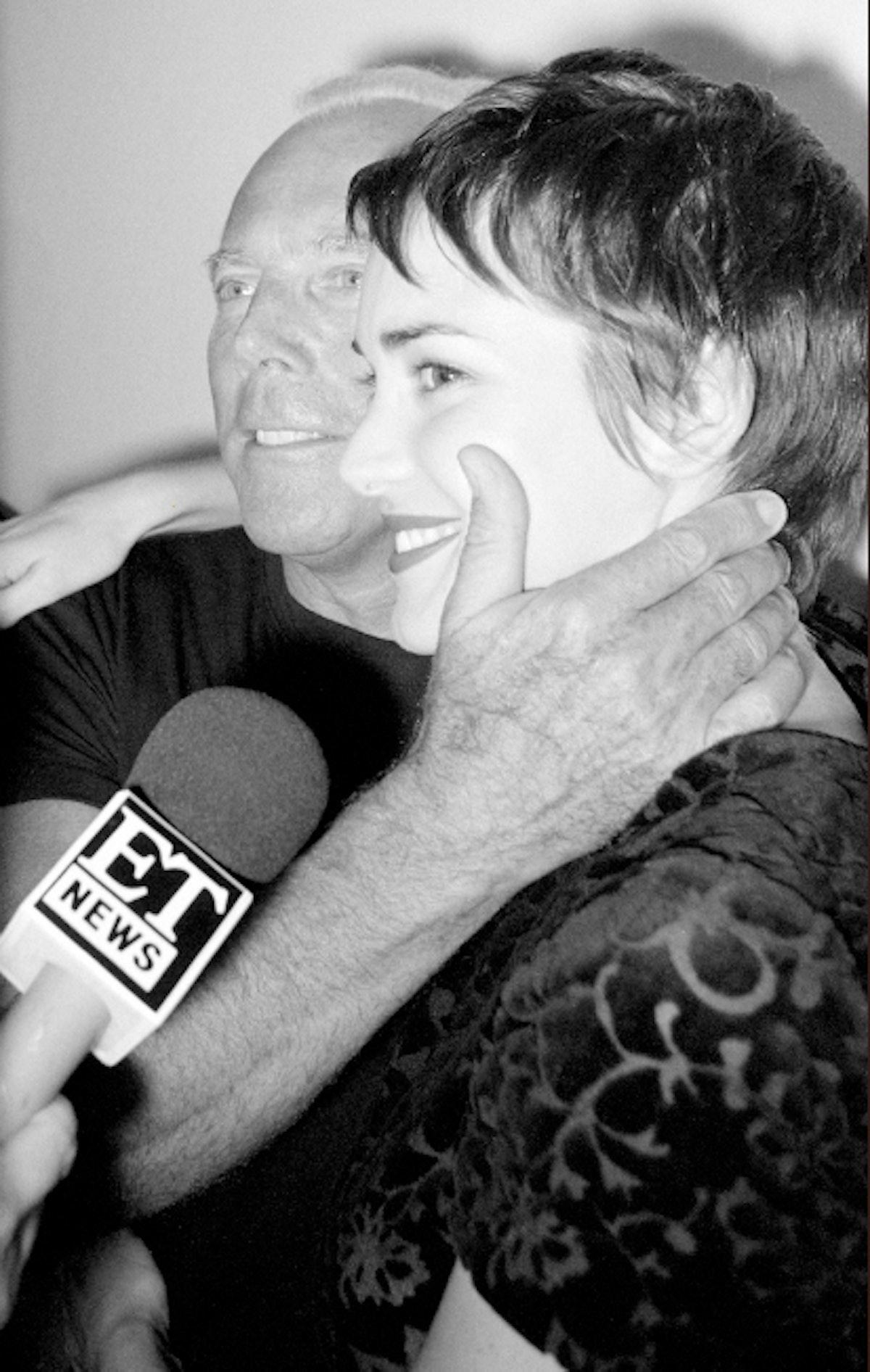 Giorgio Armani and Winona Ryder