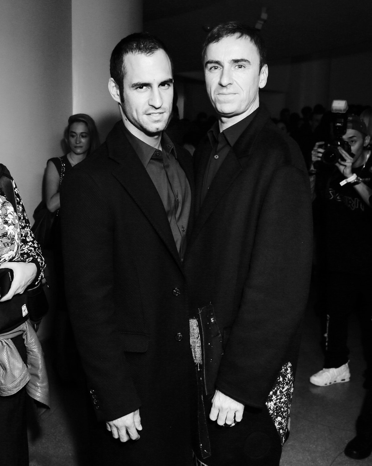 Jean-Georges d'Orazio and Raf Simons