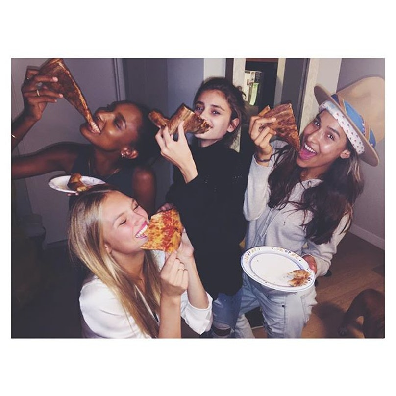Jasmine Tookes, Romee Strijd, Taylor Hill, and Michael Stephen Shank