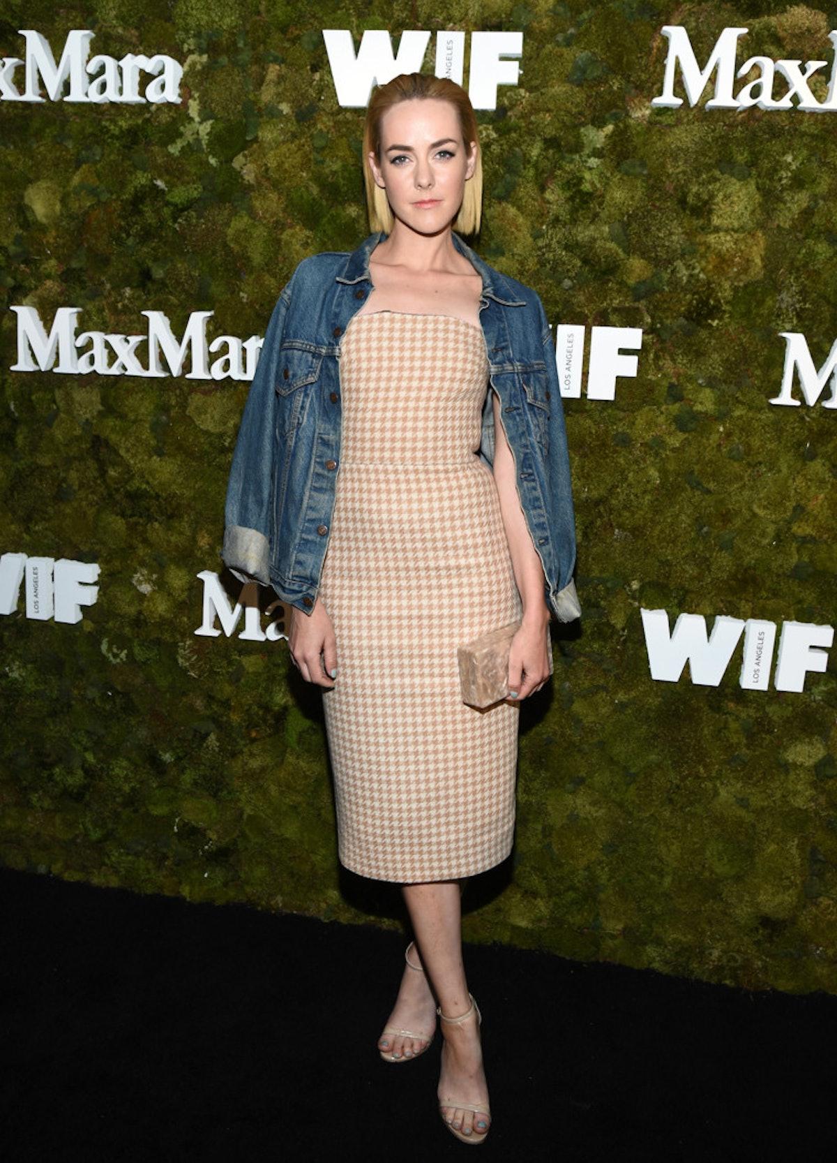 Jena Malone in Max Mara and Levi's