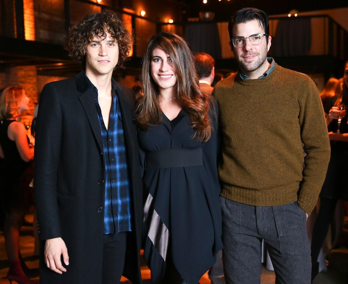 Miles McMillan, Laura de Gunzburg, and Zachary Quinto