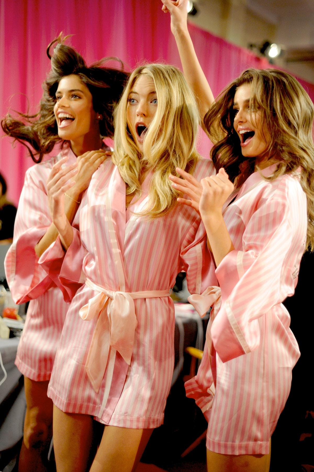 Backstage at the 2015 Victoria's Secret Fashion Show
