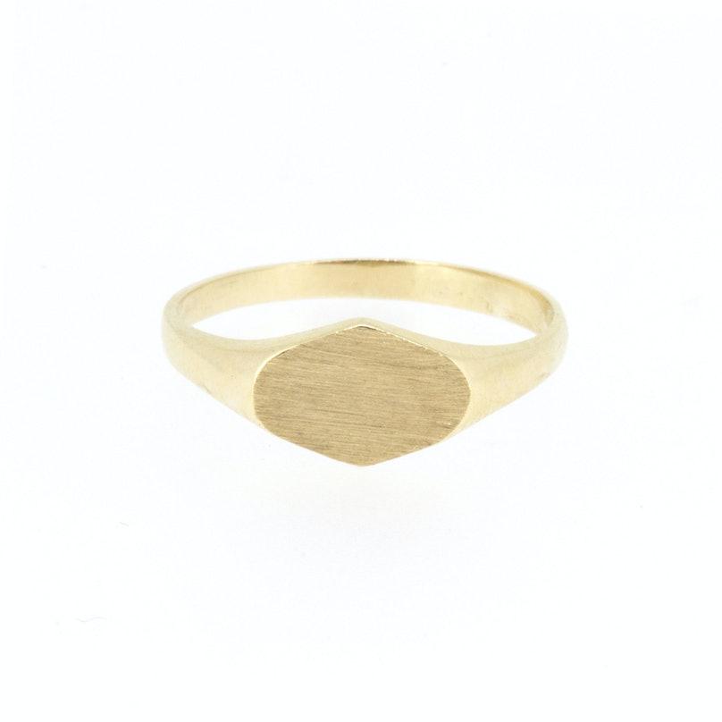 Poppy Finch 14k gold signet ring