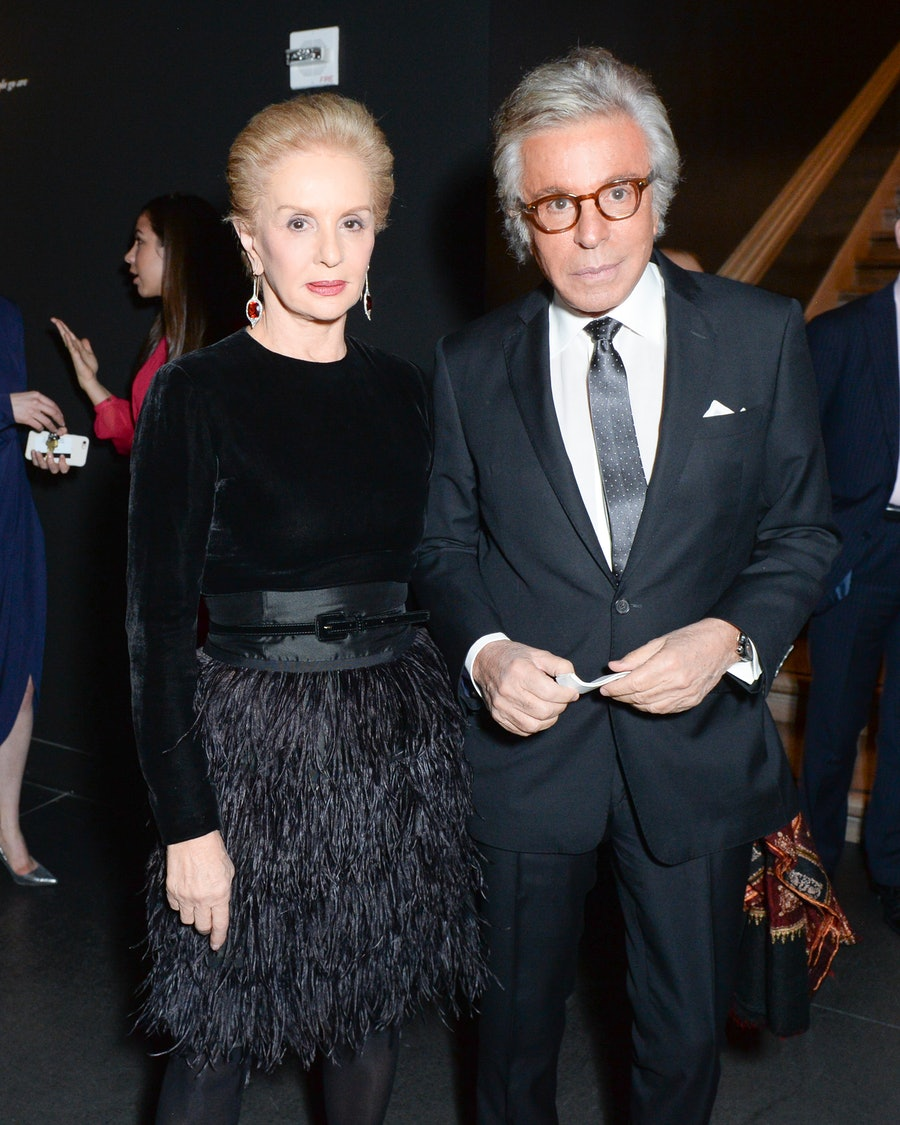 Carolina Herrera and Giancarlo Giammetti