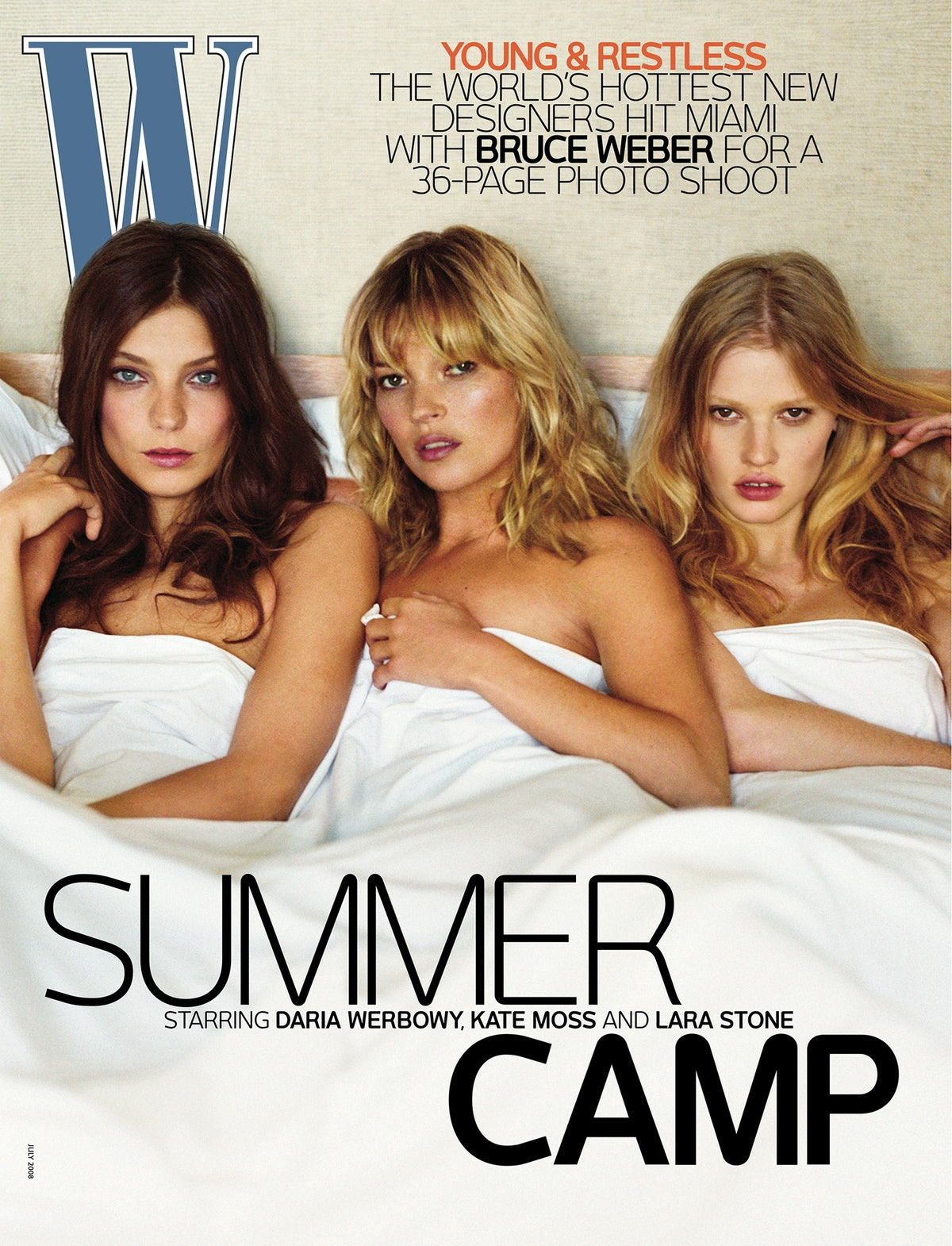 With Kate Moss, and Lara Stone