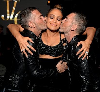 Dan Catenacci, Jennifer Lopez and Dean Caten