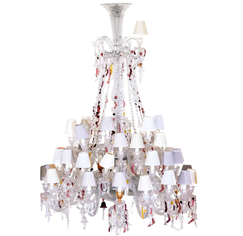 Baccarat Zenith Nervous 37 Light Chandelier by Louise Campbell