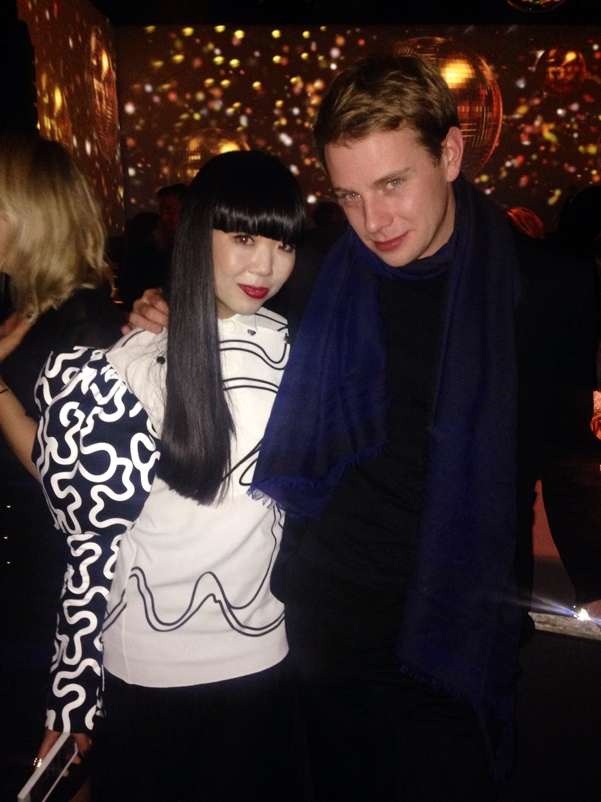 Best combo designer and his own creation II JW Anderson winner of both menswear and womenswear designer of the year and Susie Bubble