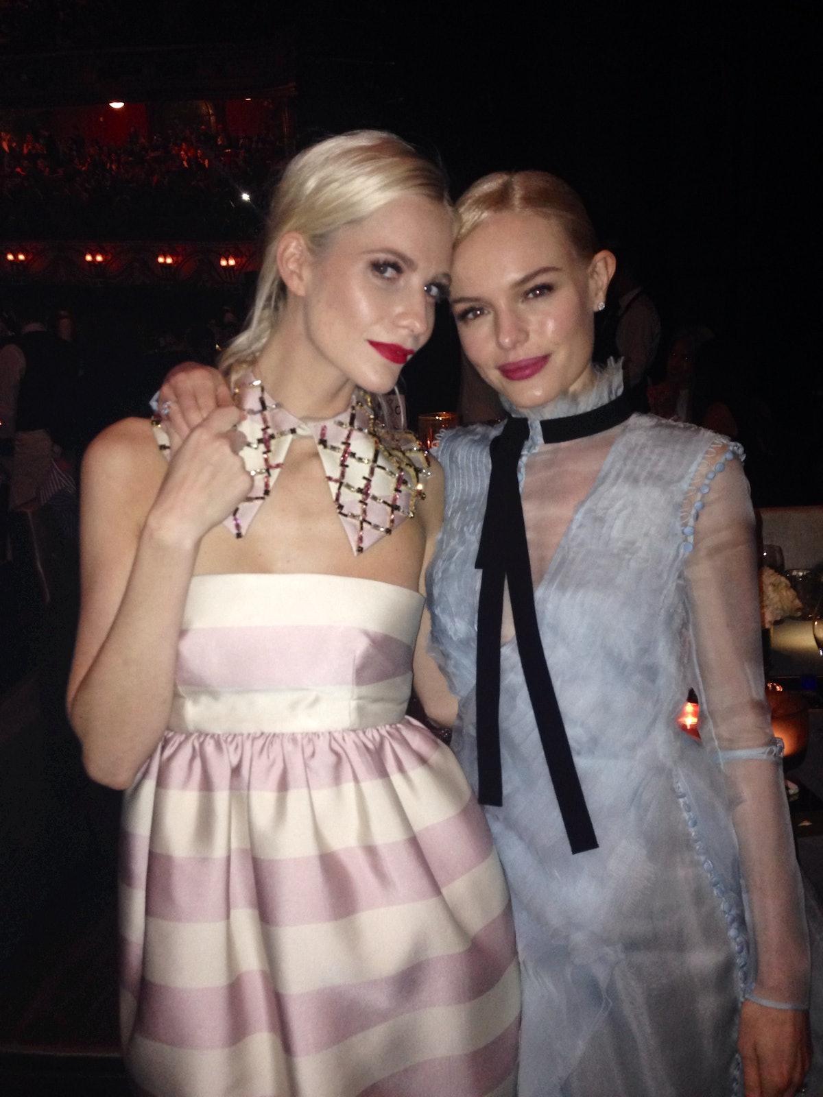 Winners for best Girlfriends of the night Poppy Delavingne (in Emilia Wickstead) and Kate Bosworth (in Erdem)