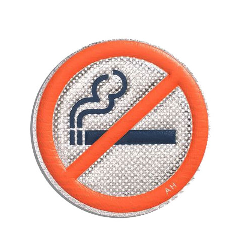 Anya Hindmarch No Smoking Leather Sticker