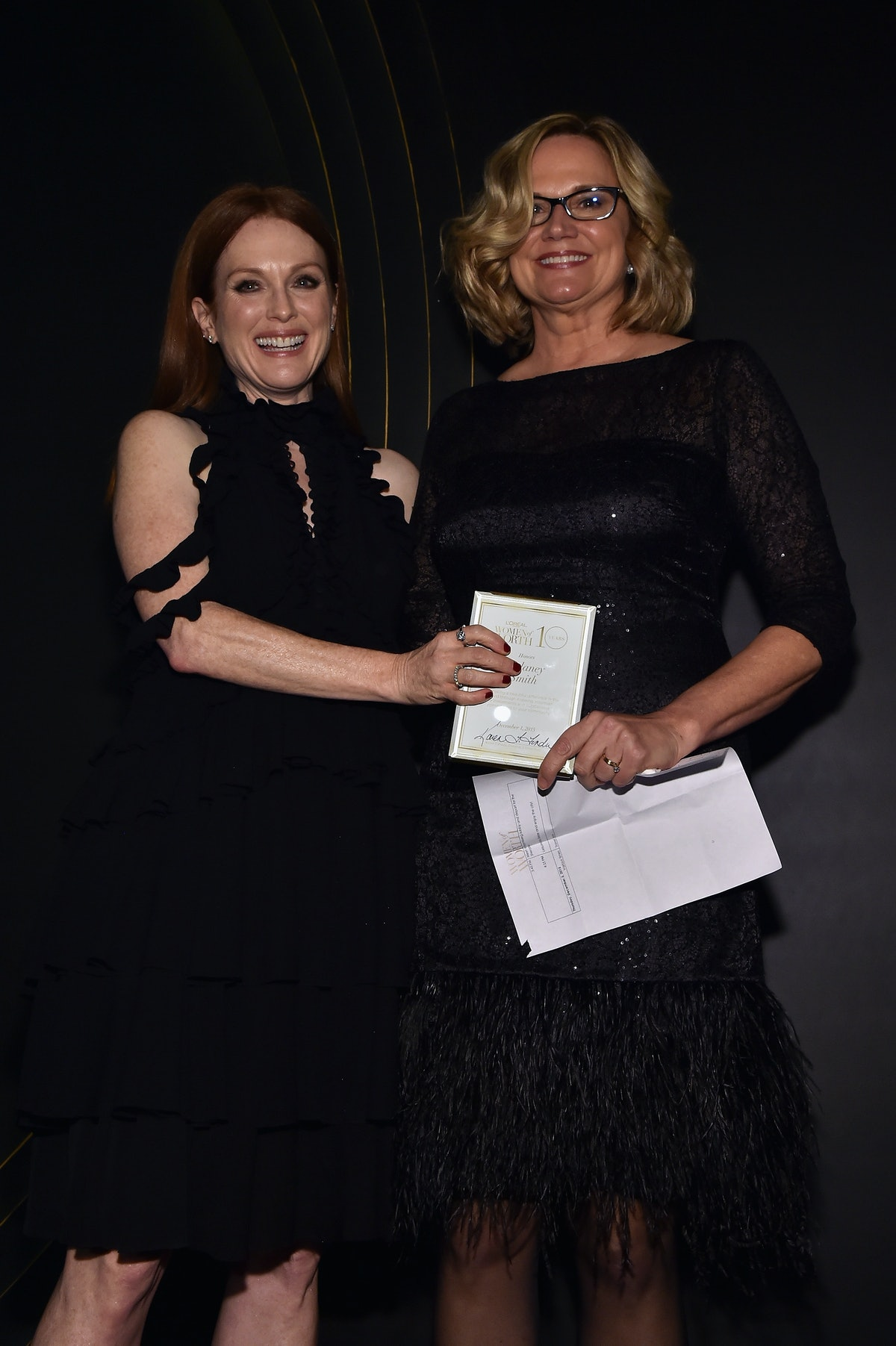 Julianne Moore and Melaney Smith