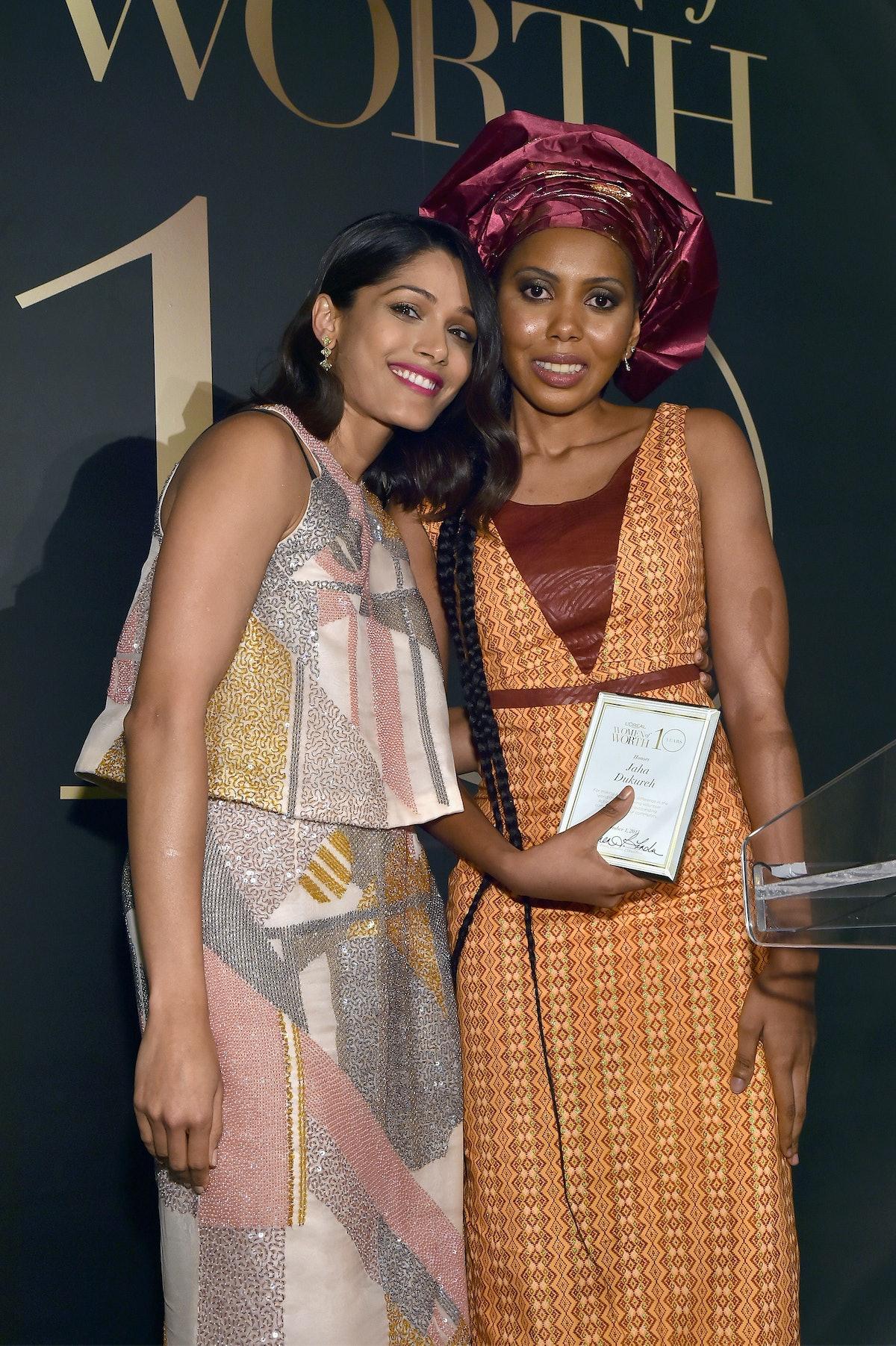 Freida Pinto and Jaha Dukureh