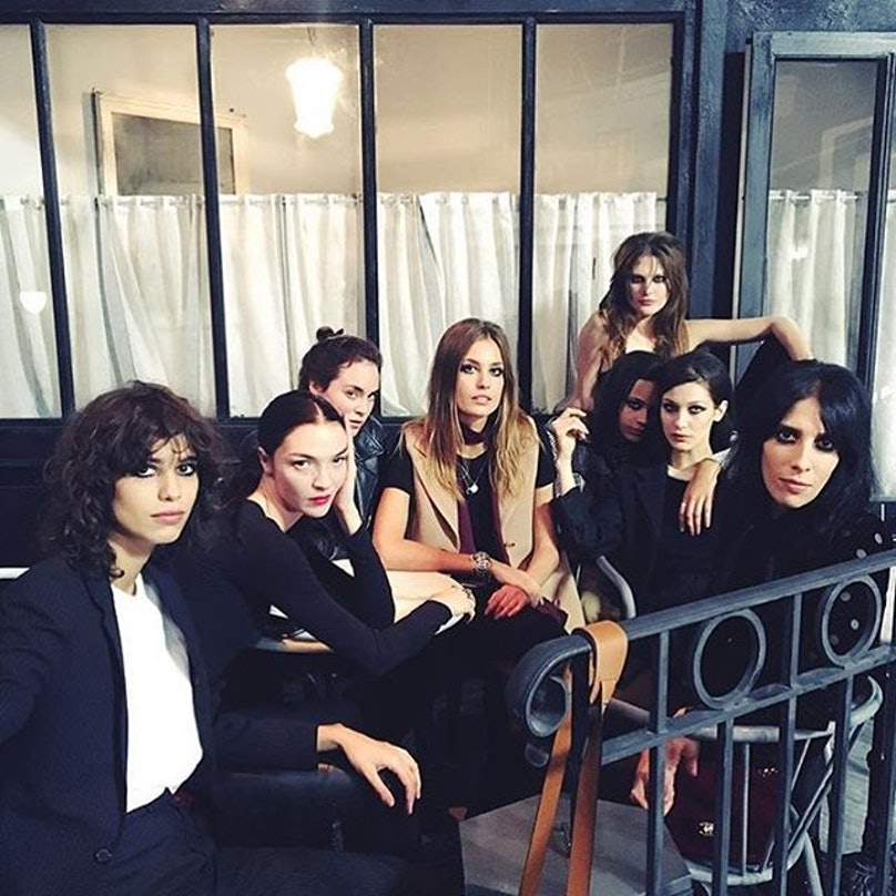 Chanel Models in Rome Bella Hadid