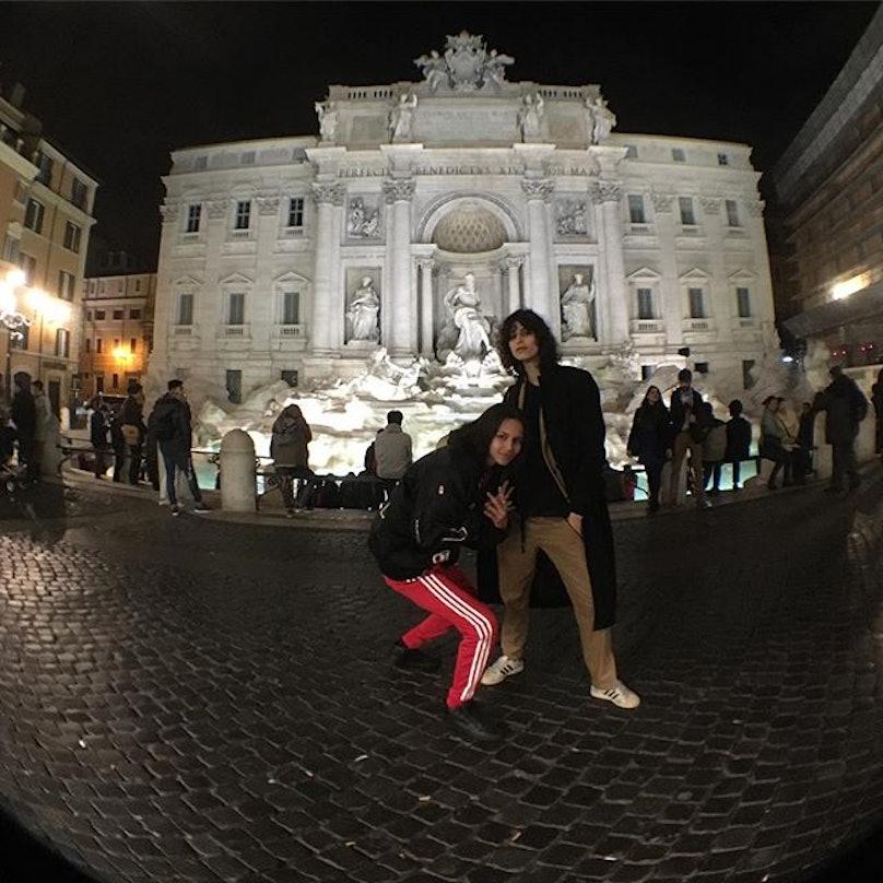 Chanel Models in Rome binx walton