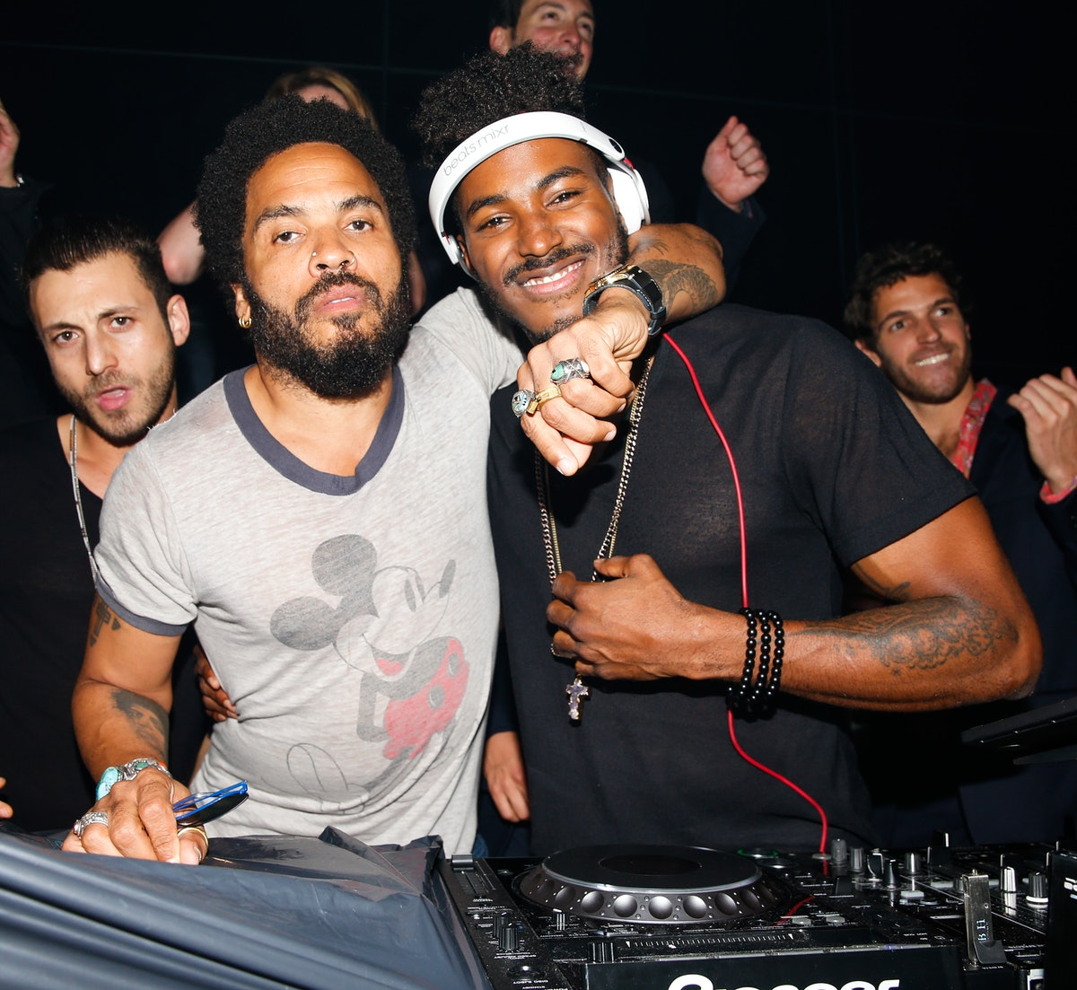 Lenny Kravitz and DJ Ruckus