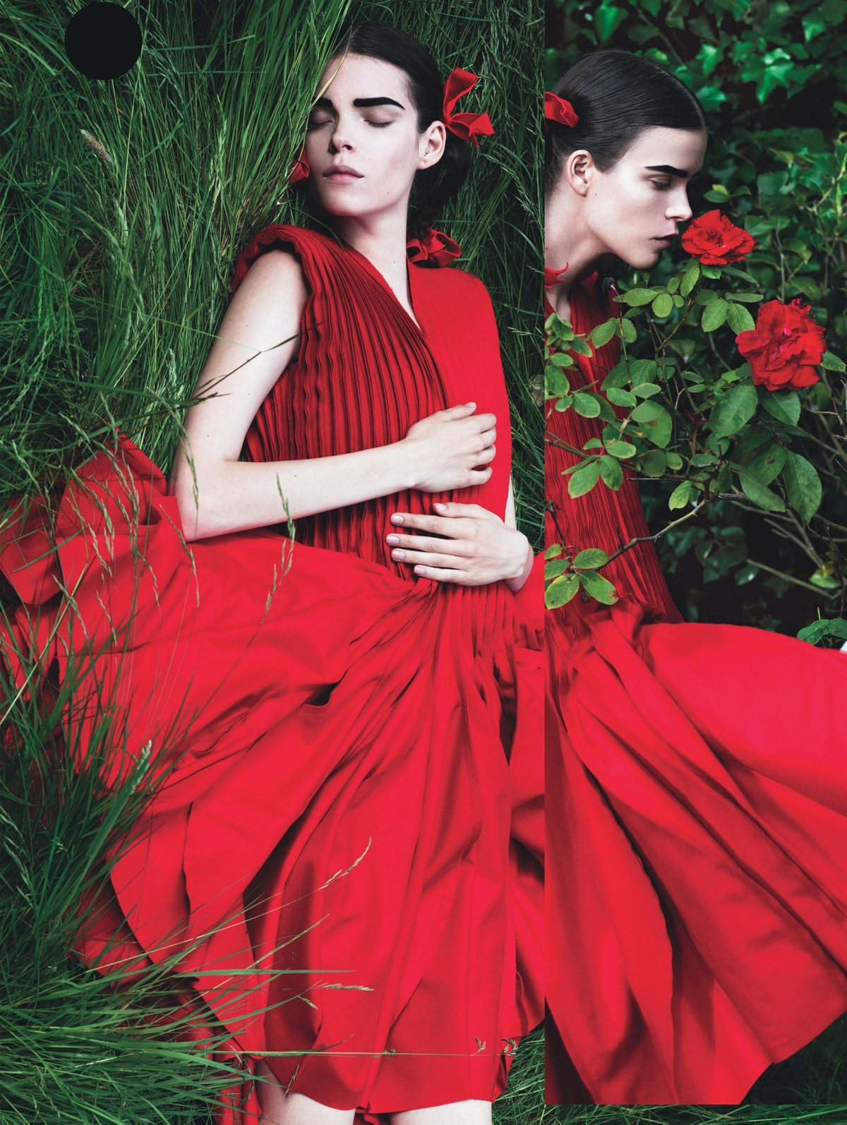 Red and Green Fashion Photography