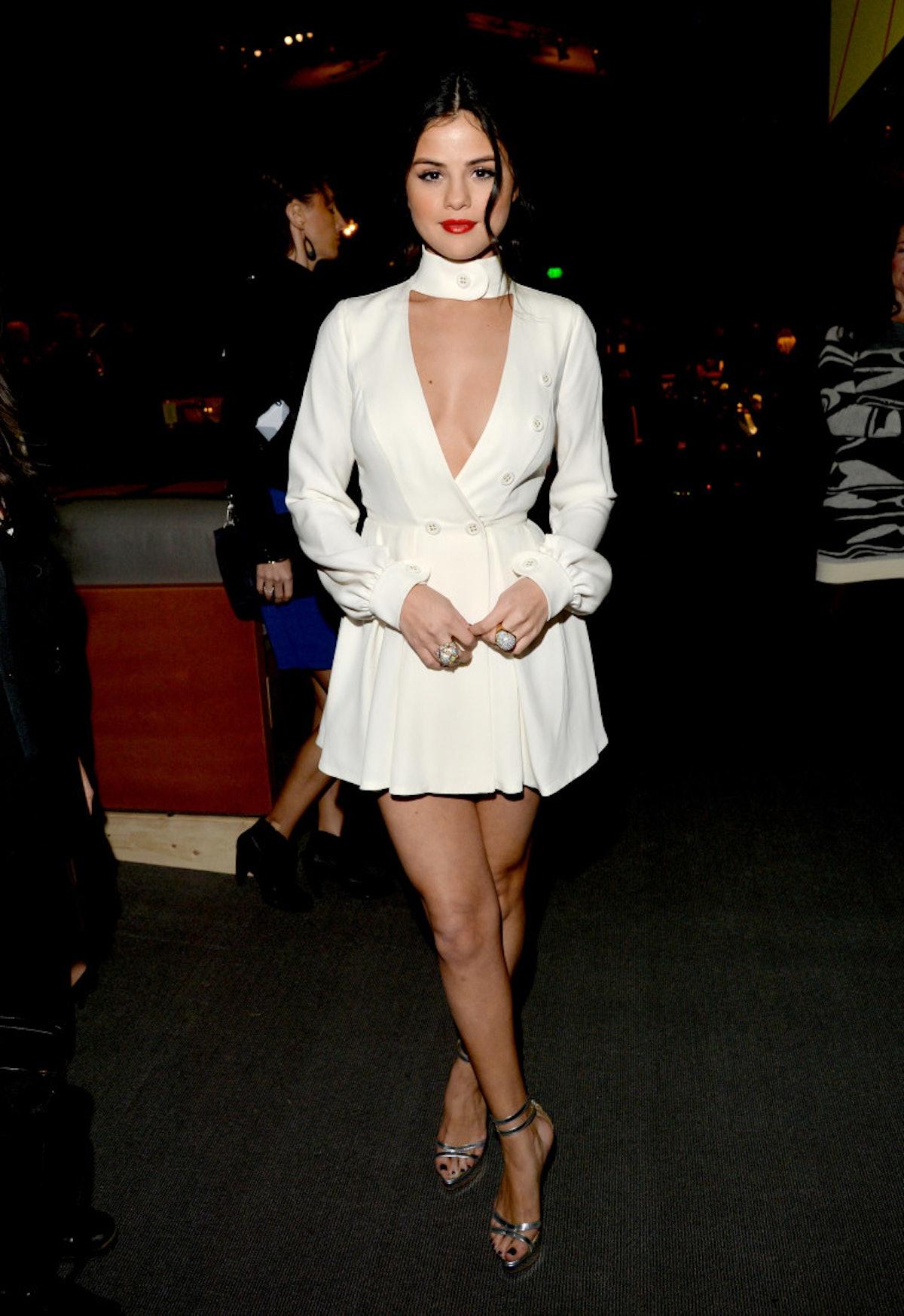 Selena Gomez in an Ulyana Sergeenko dress