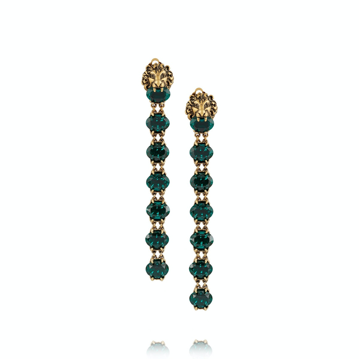 Gucci earrings, $1,450, netaporter.com.