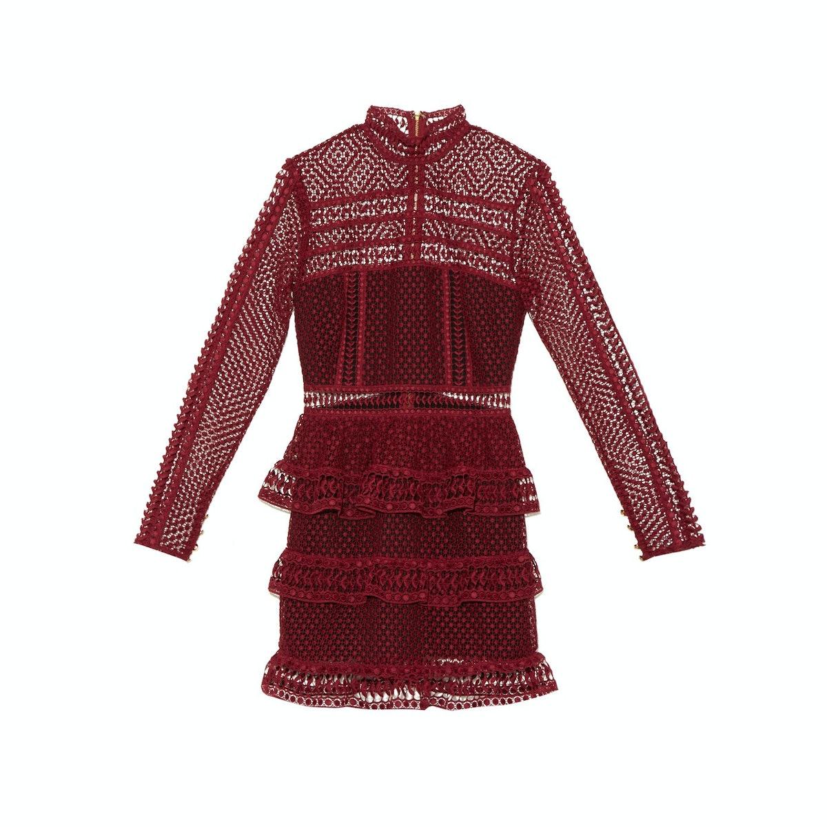 Self-Portrait-mini-dress,-$366,-matchesfashion.com