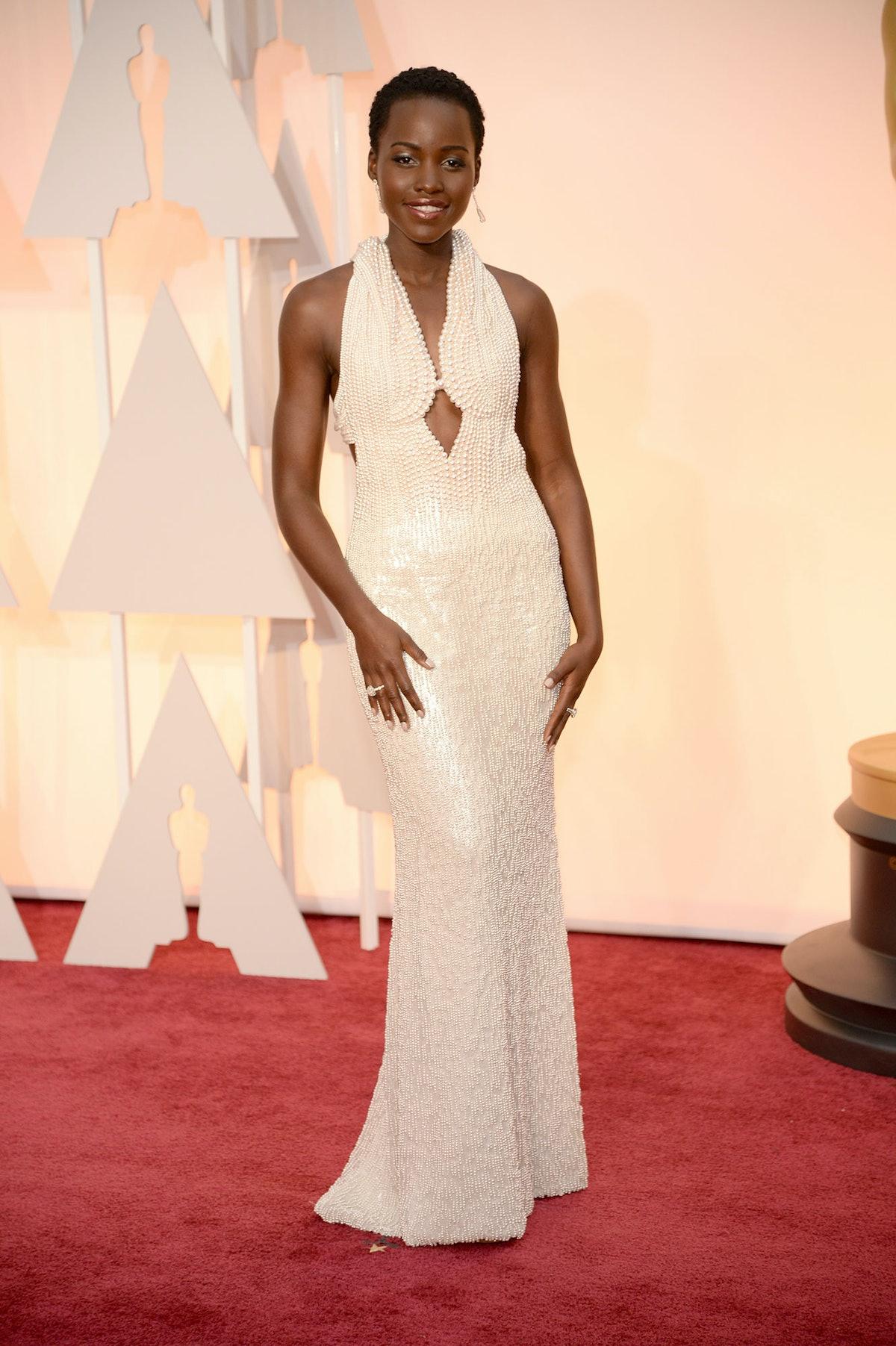 Lupita Nyong'o in Calvin Klein Collection at the Oscars