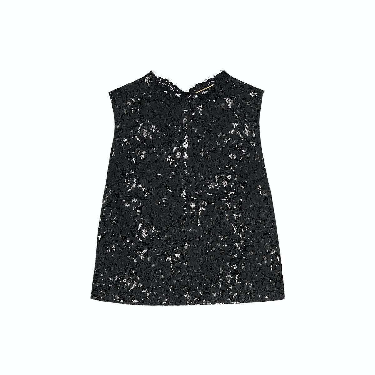 Saint-Laurent-lace-top,-$890,-at-netaporter.com
