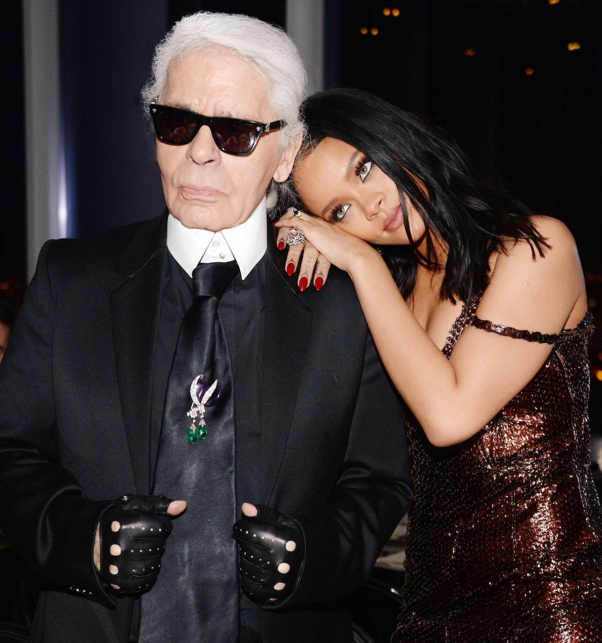 Karl Lagerfeld and Rihanna