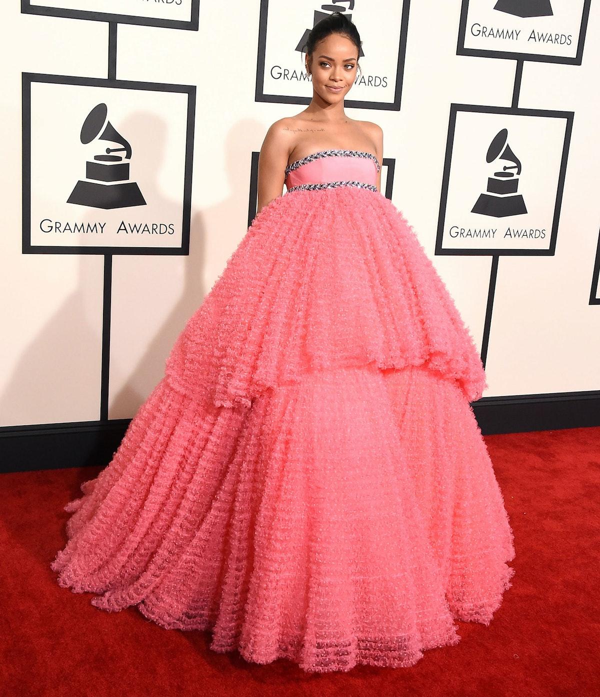 Rihanna in Giambattista Valli couture