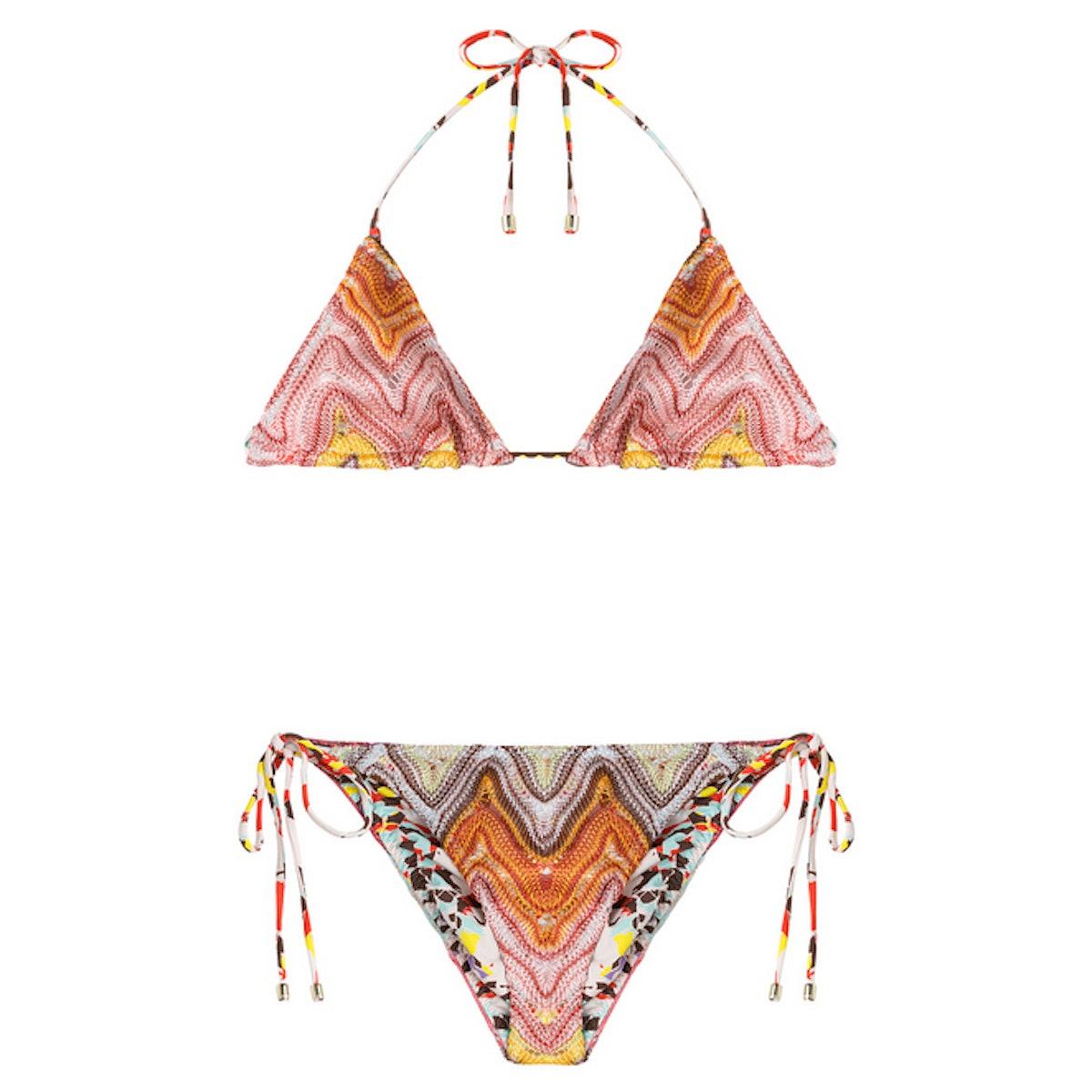 Missoni Mare Reversible Knit Triangle Bikin