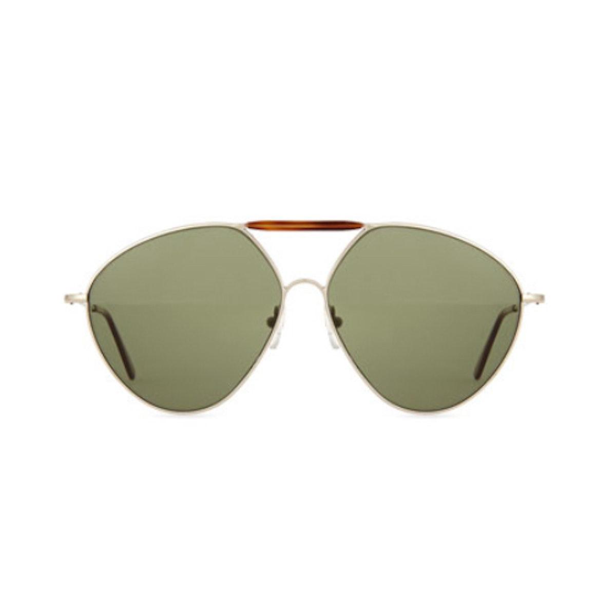 Valentino Mask Two Tone Avaitor Sunglasses