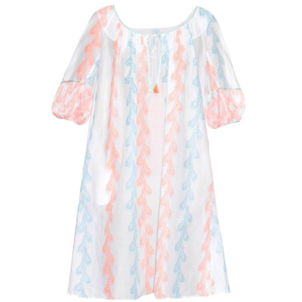 Thierry Colson Eva feather-print dress