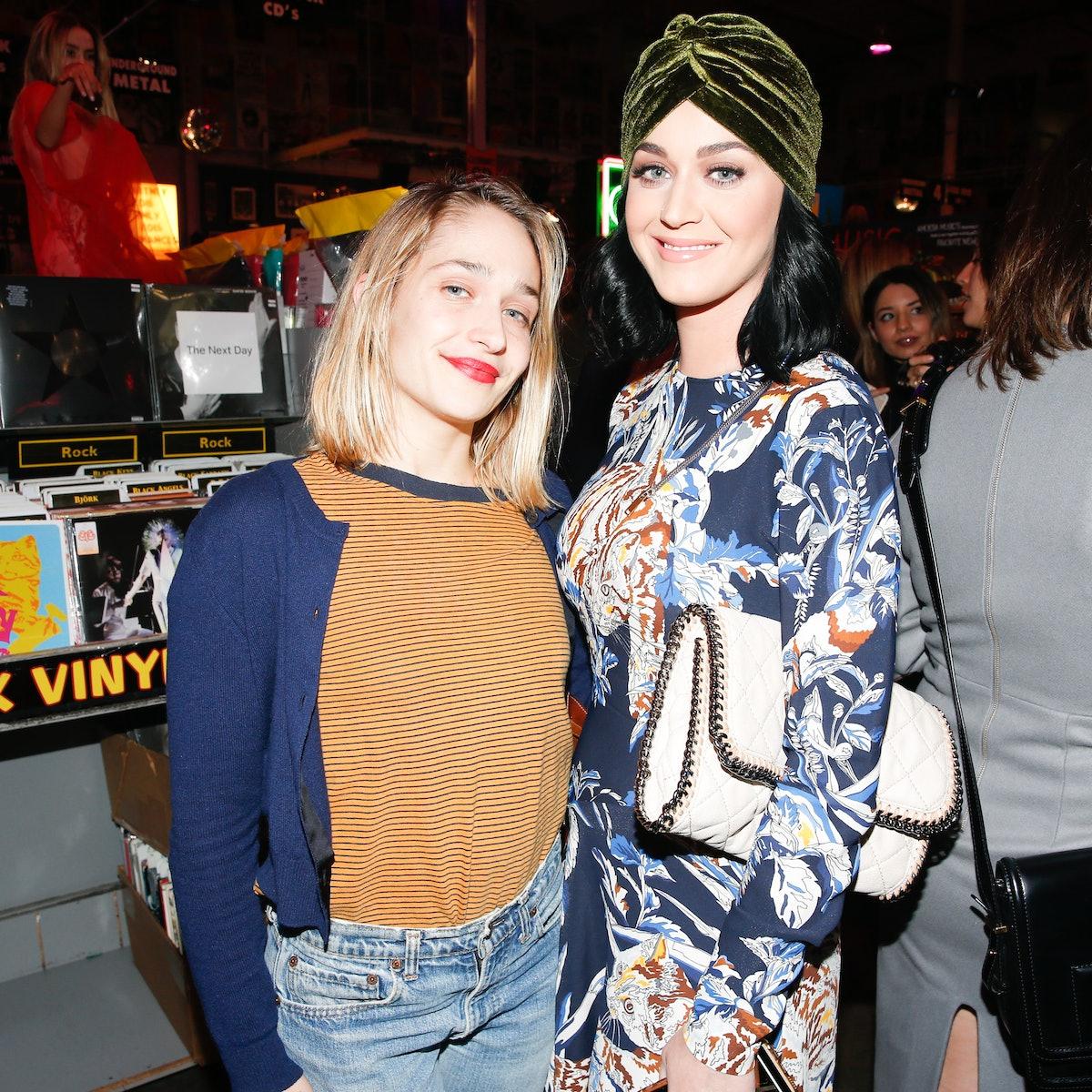 Jemima Kirke and Katy Perry