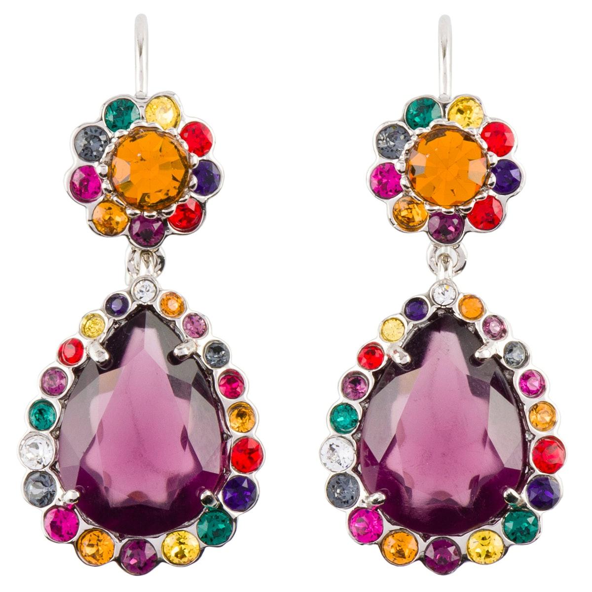 Miu Miu earrings, $495, miumiu.com