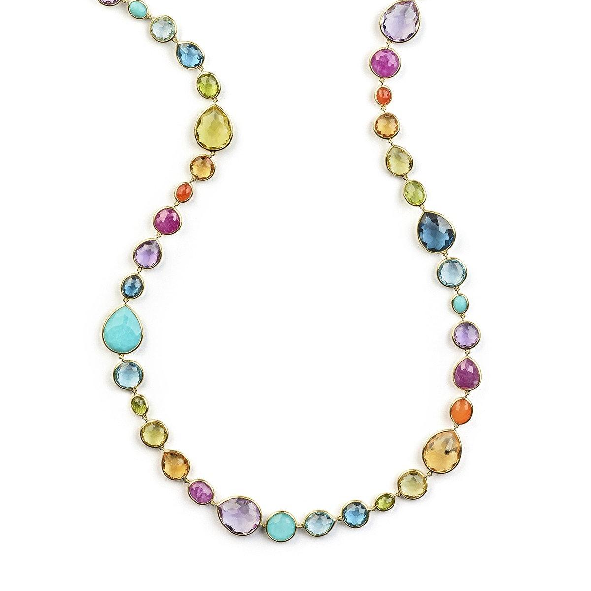 Ippolita 18K gold necklace, $22,500, ippolita.com