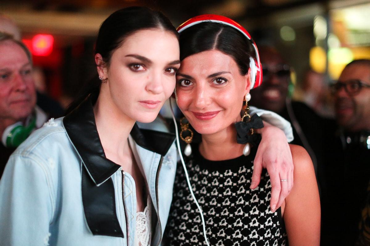 Mariacarla Boscono and Giovanna Battaglia
