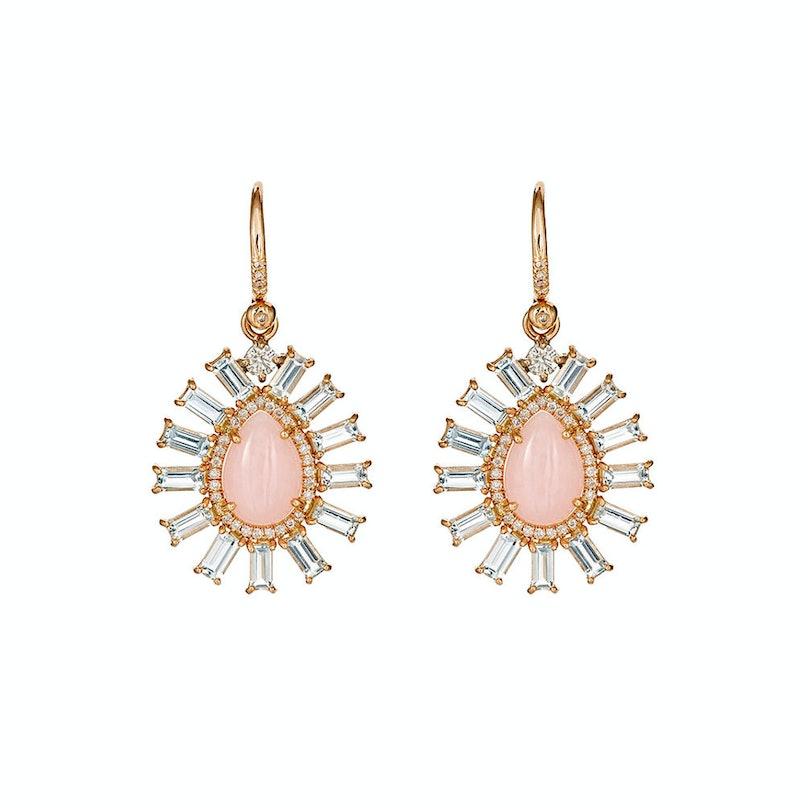 Irene Neuwirth diamond and opal earrings