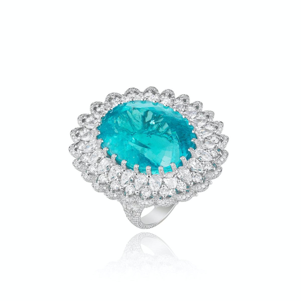 Chopard-Fine-Jewelry-41.57-Carat-Paraiba-Tourmaline-and-Diamond-Ring,-Price-Upon-Request,-at-www.Chopard.com