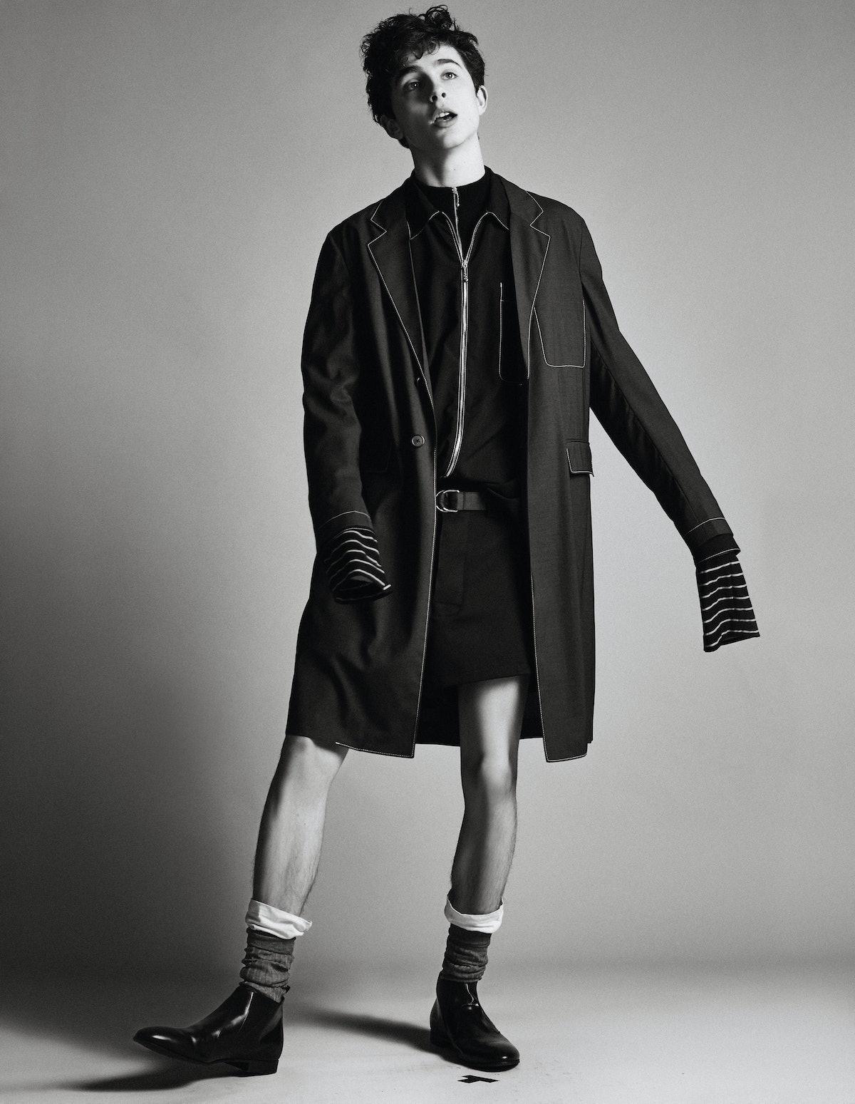 Timothée Chalamet in shorts.