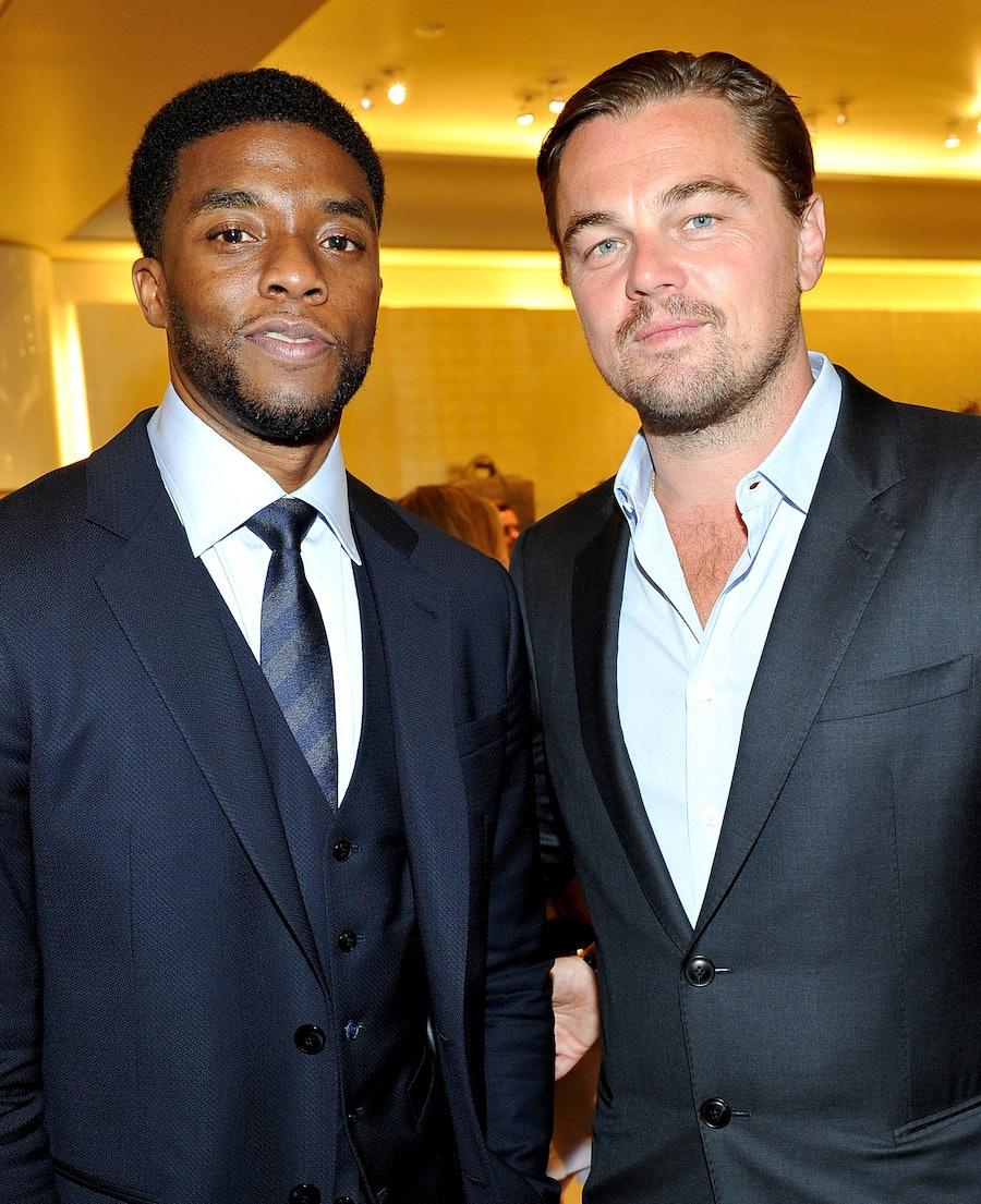 Chadwick Boseman and Leonardo DiCaprio