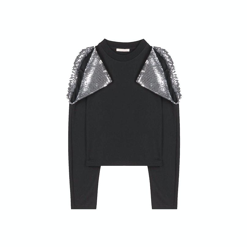 Christopher Kane sweater, $795, mytheresa.com.