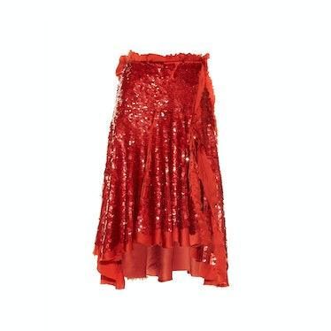 Lanvin skirt, $5,700, matchesfashion.com.