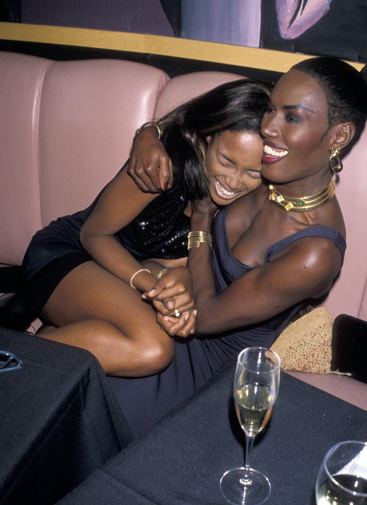 Naomi Campbell and Grace Jones