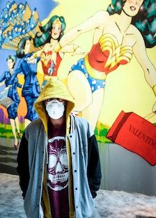 Wonder Woman Mural at Valentino