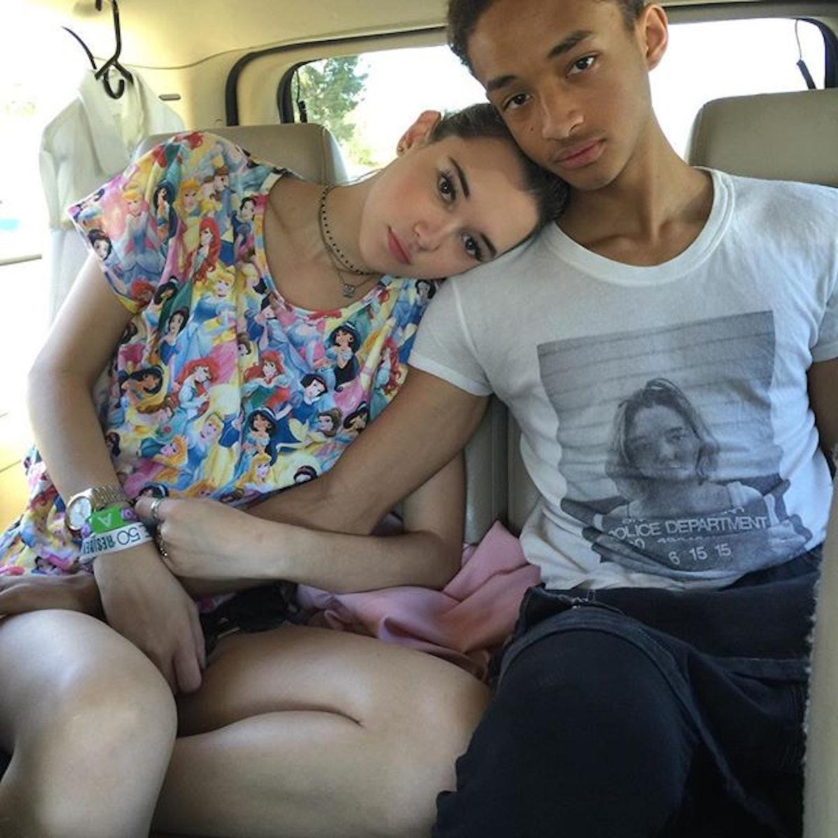 Sarah Snyder and Jaden Smith