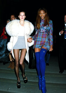 Kate Moss and Naomi Campbell in London